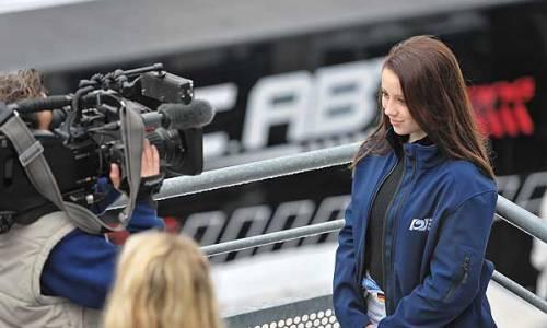 Carrie Schreiner am Sonntag im ZDF Fernsehgarten