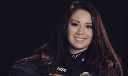 Carrie Schreiner im Lamborghini Young Driver Program