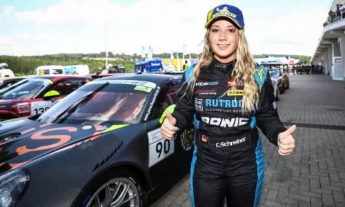 Porsche Sports Cup: Pole Position, Sieg und Platz 2 für Carrie Schreiner