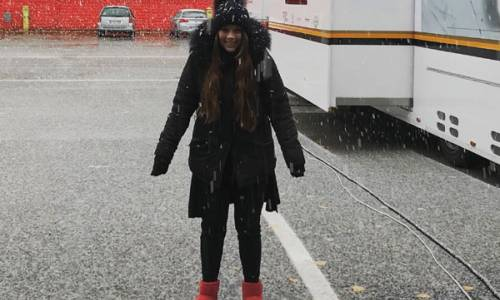 Schnee beim Lamborghini-Weltfinale in Imola